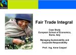 fair trade integral